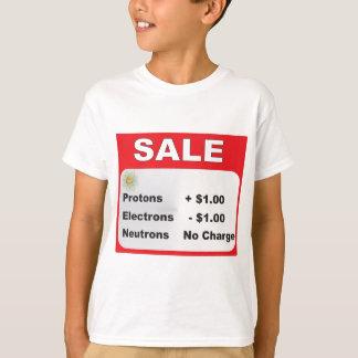 Camiseta venda dos nêutrons dos elétrons dos protão