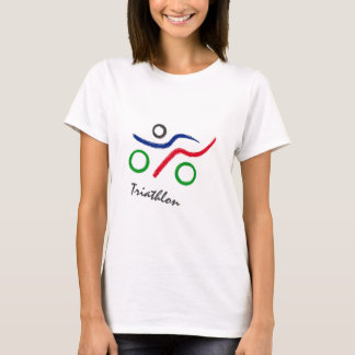 Camiseta Vendedor do logotipo original do Triathlon o