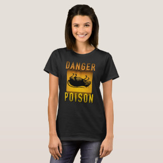 Camiseta Veneno do perigo que adverte o Grunge retro da