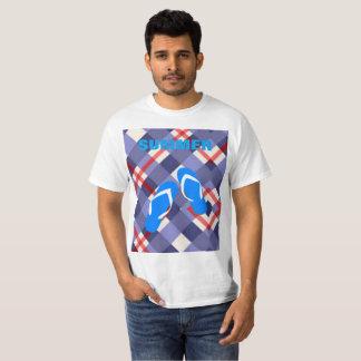 Camiseta Verão azul do falhanço de sacudir