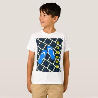 Camiseta Verão do falhanço de sacudir da xadrez