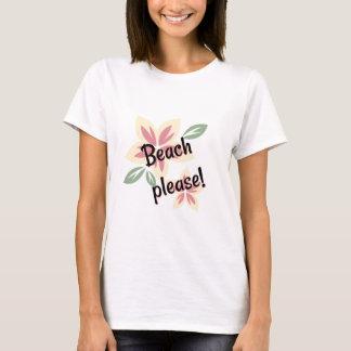Camiseta Verão floral - praia por favor