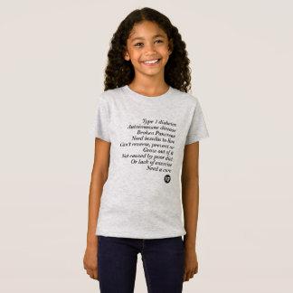 Camiseta Verdade de T1d (menina)