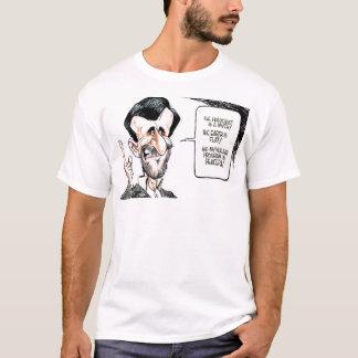 Camiseta Verdade &Telling da caricatura de Mahmoud Ahmadi