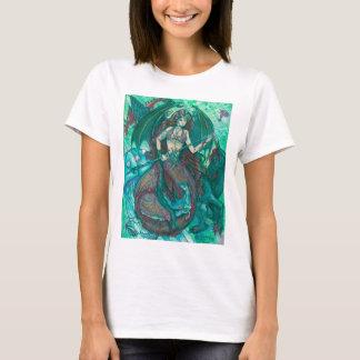 Camiseta Verde da cerceta do mar do oceano do unicórnio da