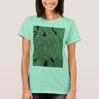 Camiseta Verde da formação do éter