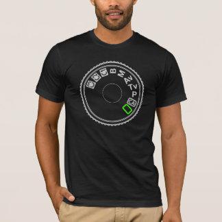 Camiseta Verde da prata do seletor do modo da câmera