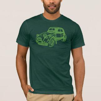 Camiseta Verde de Citroen 2CV do vintage