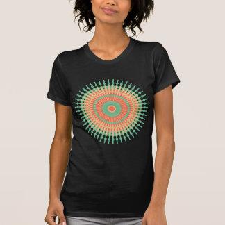 Camiseta Verde do design da mandala, indiano alaranjado