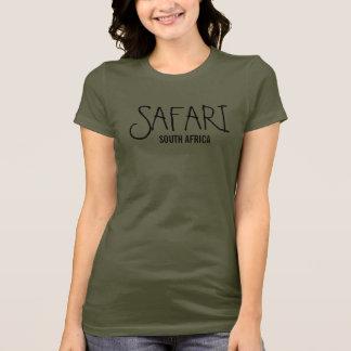 Camiseta Verde do exército de África do Sul do safari