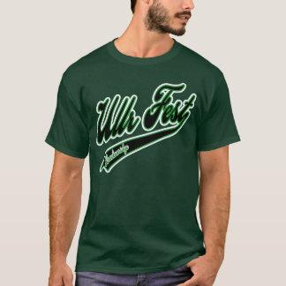 Camiseta Verde do logotipo do basebol do Fest de Ullr