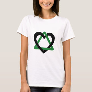 Camiseta Verde do preto do triângulo da adopção