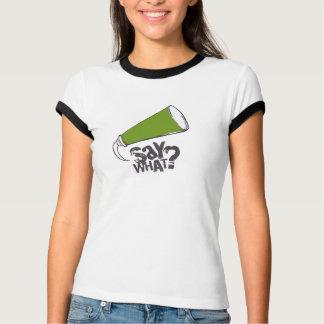 Camiseta VERDE do t-shirt da bolha do discurso dos desenhos