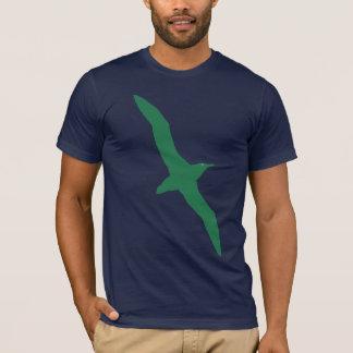 Camiseta Verde do t-shirt do pássaro do albatroz