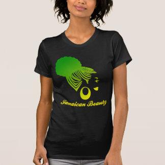 Camiseta Verde e amarelo jamaicanos do Tshirt do preto da