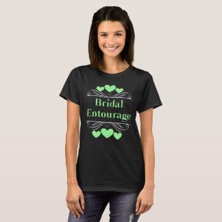 Camiseta Verde nupcial de Tee~Mint do coração do séquito