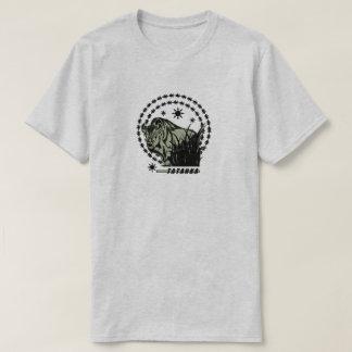 Camiseta Verde Sun-Americano do búfalo/bisonte de Tatanka