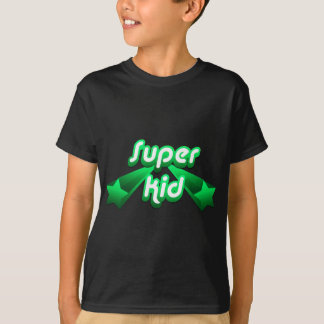 Camiseta Verde super do miúdo