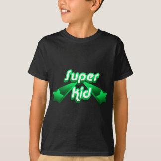 Camiseta Verde super do miúdo