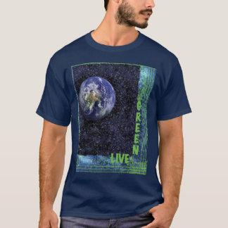 Camiseta Verde vivo para a terra