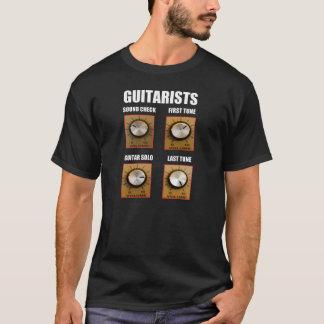 Camiseta Verificação do som do guitarrista