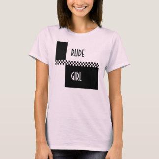 Camiseta Verificações RUDES da Menina-ska