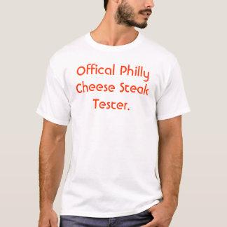 Camiseta Verificador oficial do bife do queijo de Philly