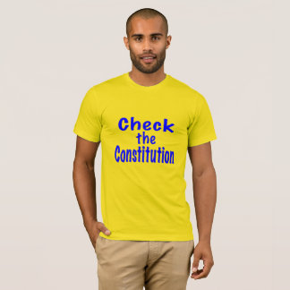 Camiseta Verifique a constituição
