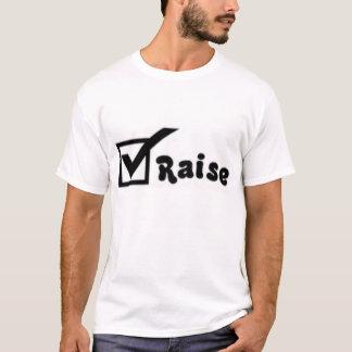 Camiseta Verifique o aumento