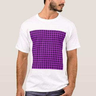 Camiseta Verifique o teste padrão. Roxo e preto