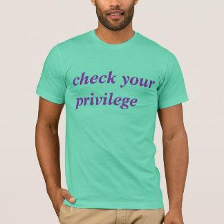Camiseta verifique seu privilégio