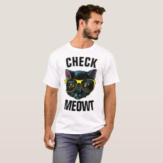 Camiseta VERIFIQUE t-shirt engraçados do gato de MEOWT