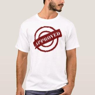 Camiseta vermelho aprovado do selo