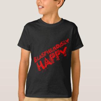 Camiseta Vermelho blasfema feliz