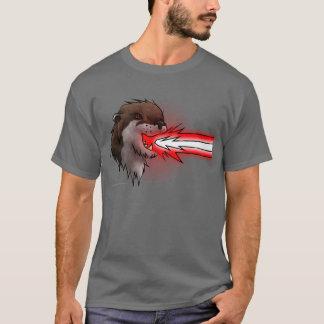 Camiseta Vermelho da lontra do laser da morte (t-shirt)