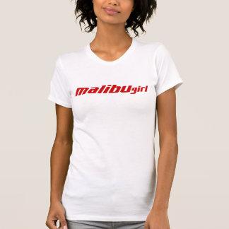 Camiseta Vermelho da menina de Malibu
