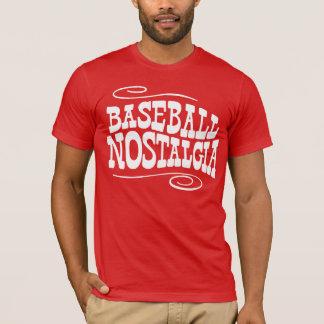 Camiseta Vermelho da nostalgia do basebol