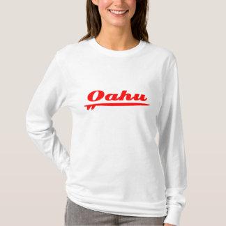 Camiseta Vermelho da prancha de Oahu