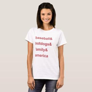 Camiseta Vermelho de América da família de cachorros