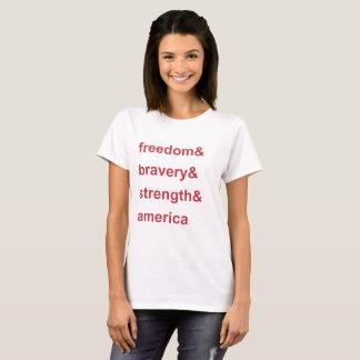 Camiseta Vermelho de América da força da bravura da