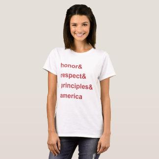 Camiseta Vermelho de América dos princípios do respeito da