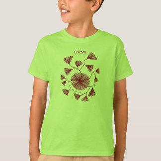 Camiseta Vermelho de Civishi #123, fã de mar abstrato