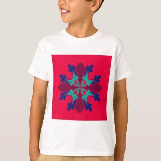 Camiseta Vermelho de Ethno da mandala do design