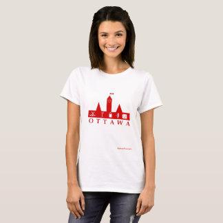 Camiseta Vermelho de Ottawa no t-shirt básico branco
