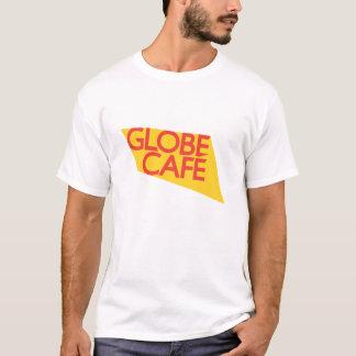 Camiseta Vermelho do amarelo do café do globo