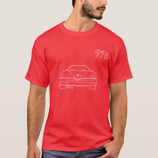 Camiseta Vermelho do t-shirt do esboço da aranha do alfa