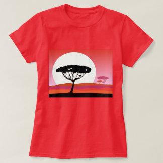 Camiseta Vermelho do TSHIRT com África
