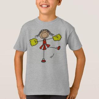 Camiseta Vermelho e cheerleader do ouro