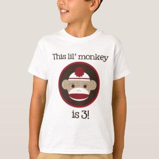 Camiseta Vermelho e macaco da peúga de Brown: Terceiro T do