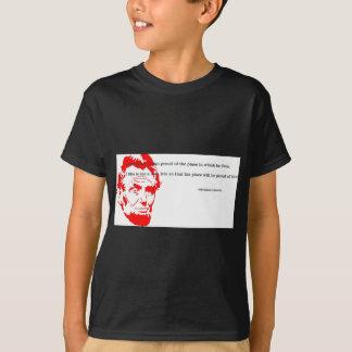 Camiseta Vermelho grato das citações de Abraham Lincoln